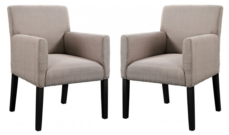 Chloe Beige Armchair Set of 2