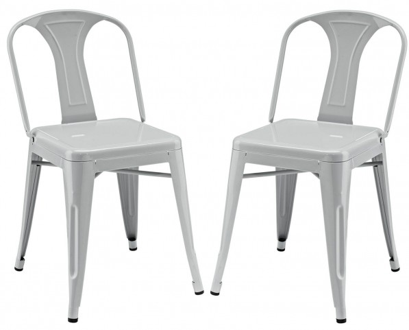 Reception Gray Dining Side Chair Set of 2