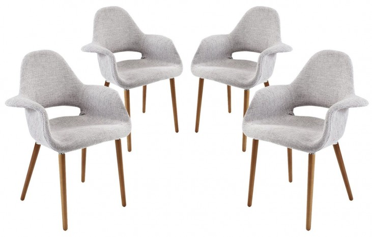 Taupe Light Gray Dining Armchair Set of 4