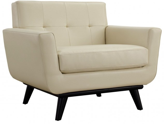 Engage Beige Leather Armchair