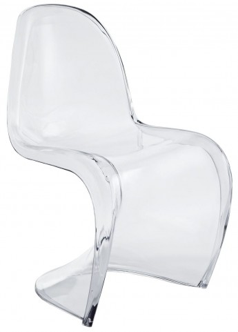 Slither Clear Dining Acrylic Side Chair