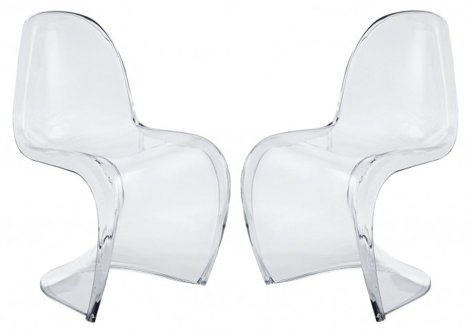 Slither Clear Dining Side Chairs Set of 2