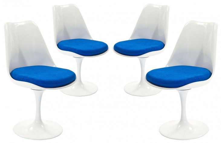 Lippa Blue Dining Side Chair Set of 4