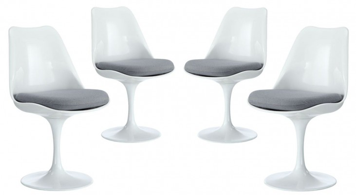 Lippa Gray Dining Side Chair Set of 4