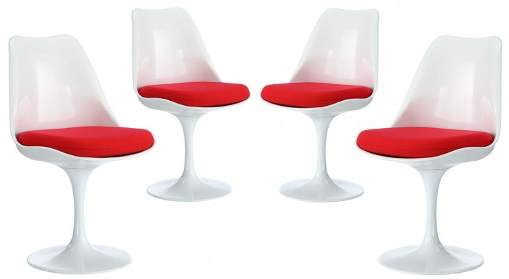 Lippa Red Dining Side Chair Set of 4