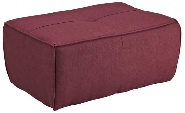 Align Berry Upholstered Ottoman