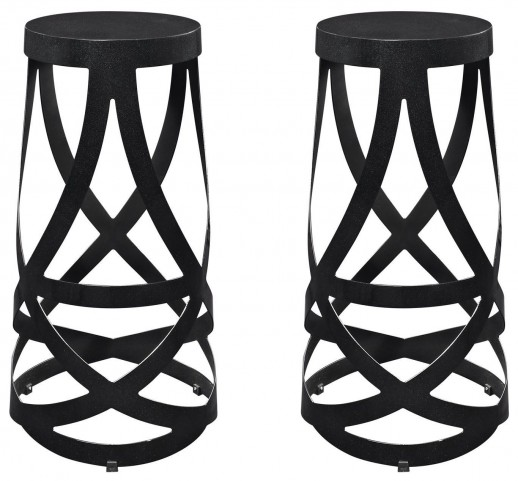Ribbon Black Bar Stool Set of 2