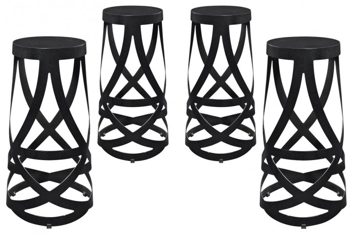 Ribbon Black Bar Stool Set of 4