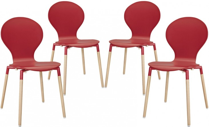 Path Red Dining Chair Set of 4