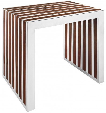 Gridiron Walnut Small Wood Bench