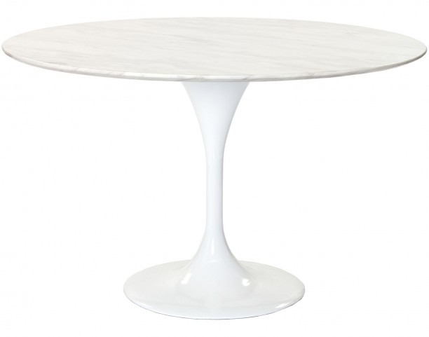 "48"" Lippa Dining Table with White Marble Top"