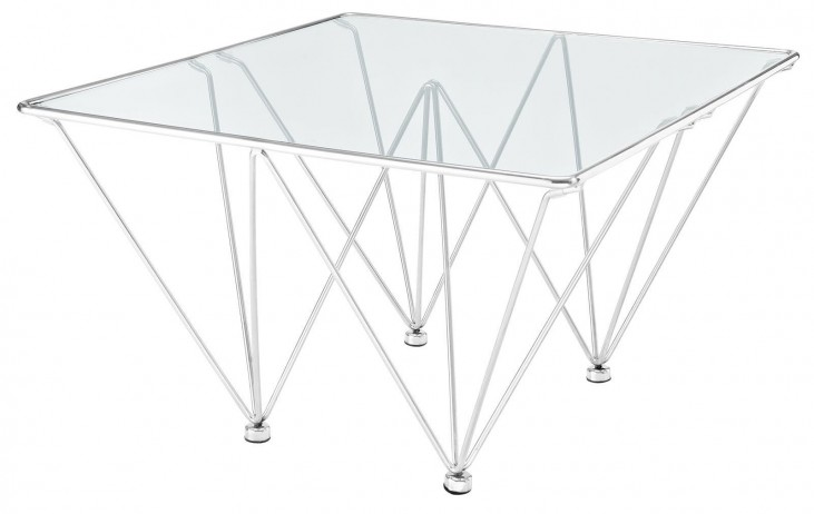 Edifice Silver Stainless Steel Coffee Table