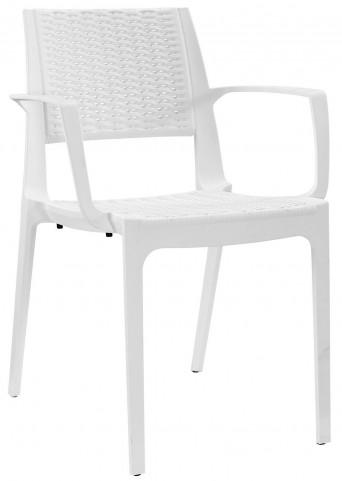 Astute White Dining Armchair