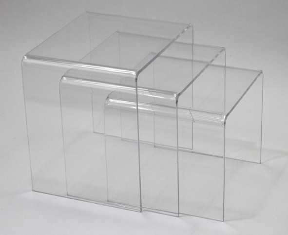 Casper Clear Nesting Table 3 piece set