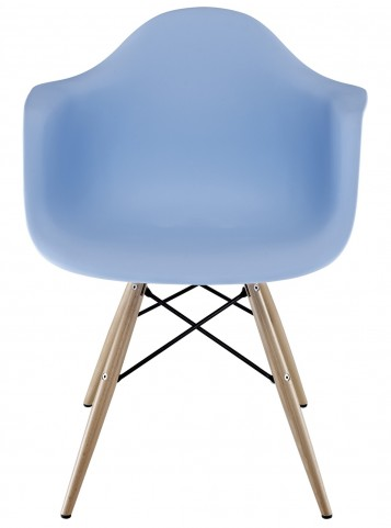 Wood Pyramid Armchair in Blue