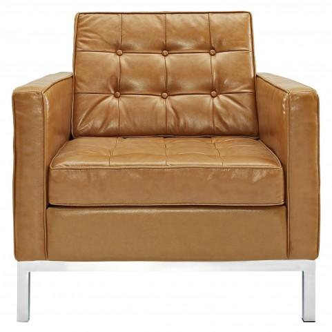 Loft Tan Leather Armchair