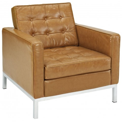 Loft Tan Leather Armchair