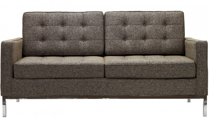 Loft Loveseat in Oatmeal Wool