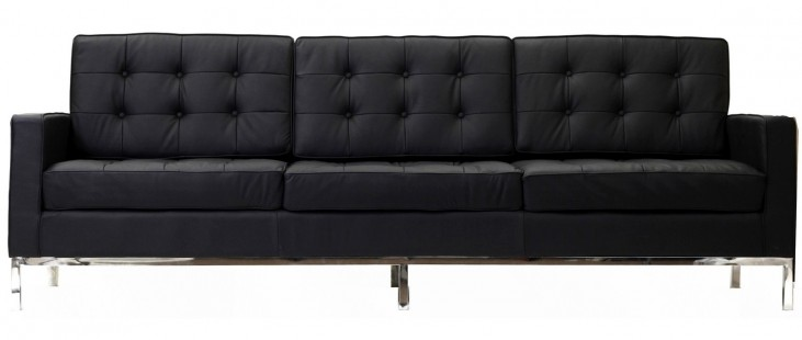 Loft Sofa in Black Genuine Leather