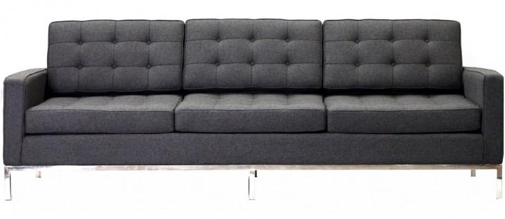 Loft Sofa in Dark Gray Wool