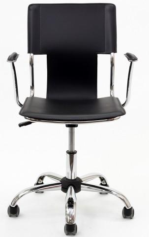 Studio Office Chair in Black Vinyl