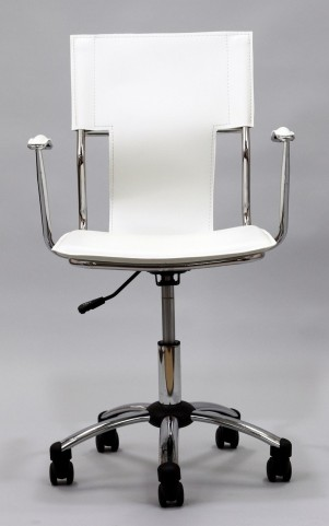 Studio Office Chair in White Vinyl