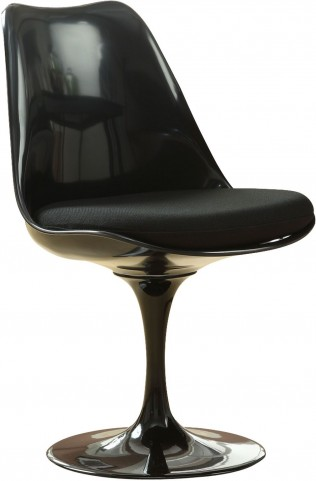 Black Lippa Side Chair with Black Cushion