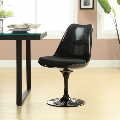 Black Lippa Side Chair with Black Cushion