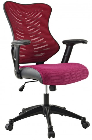 Clutch Burgundy Office Chair