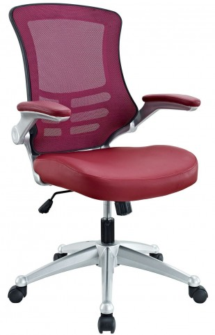 Attainment Burgundy Office Chair