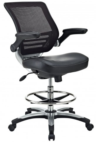 Edge Black Drafting Chair