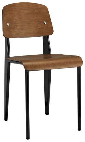 Cabin Walnut Black Dining Side Chair