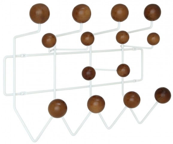 Gumball Walnut Coat Rack