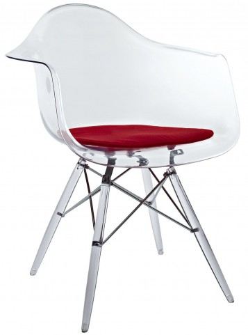 Pyramid Red Dining Armchair