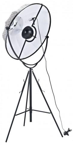 Expanse Black And White Floor Lamp