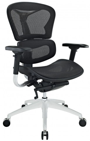 Lift Mid Back Black Office Chair