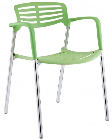 Fleet Green Stacking Chair