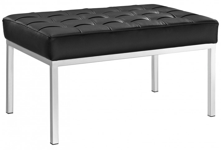 Loft Black Two-Seater Bench