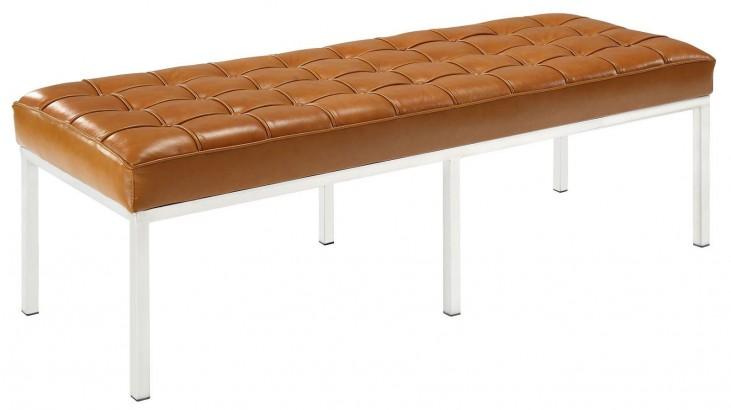 Loft Tan Three-Seater Bench