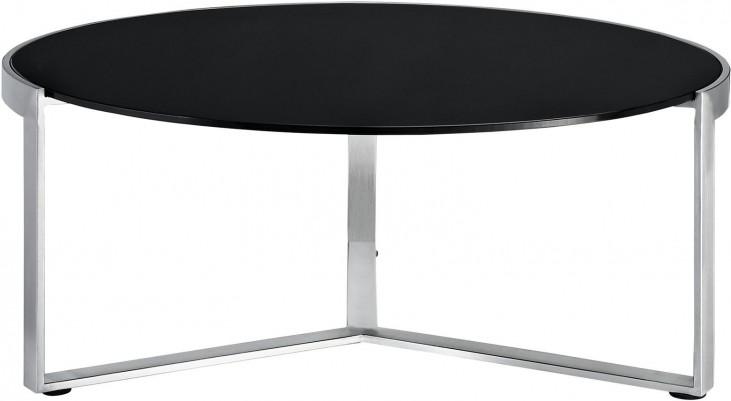 Disk Black Coffee Table