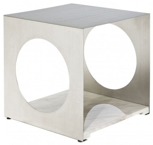 Surpass White Side Table