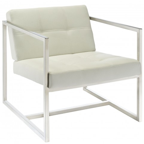 Hover White Lounge Chair