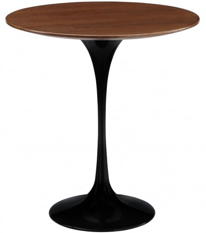 Lippa Black Wood Side Table