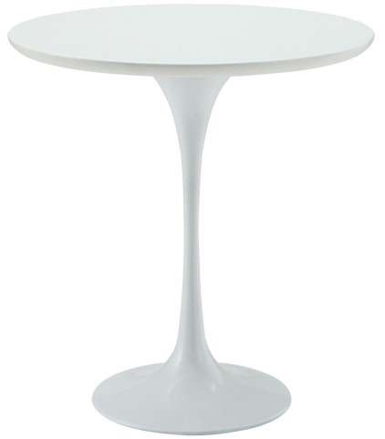 Lippa White Wood Side Table