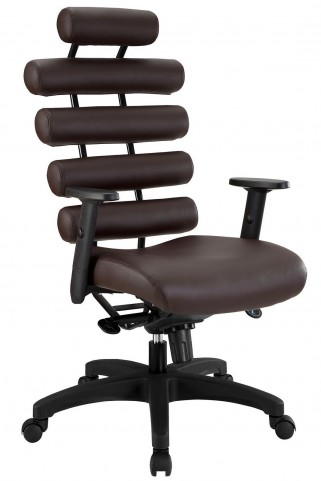 Pillow Dark Brown Office Chair