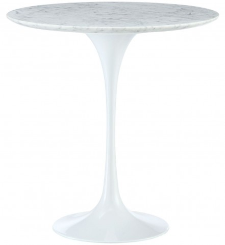 "Lippa White 20"" Marble Side Table"