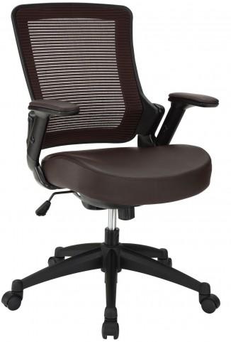 Aspire Brown Vinyl Office Chair
