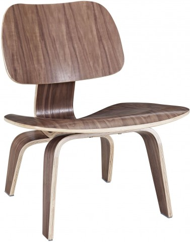 Plywood Lounge Wood Chair in Walnut