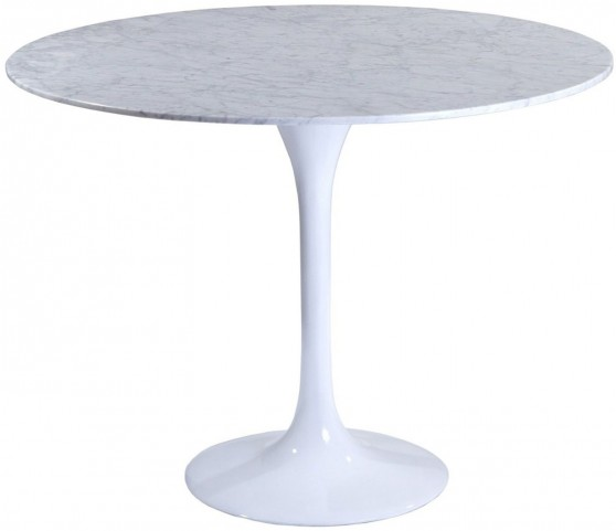 "40"" Lippa Table with White Marble Top"