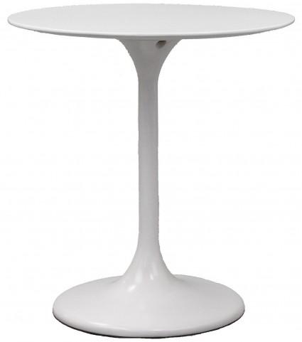 "Lippa 28"" White Fiberglass Dining Table"
